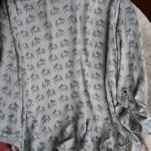 Flowy blouse with elephants